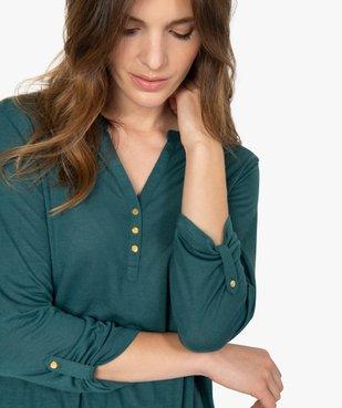 Tee-shirt femme à manches longues et dos dentelle vue2 - GEMO C4G FEMME - GEMO