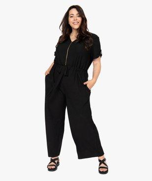 Combinaison pantalon femme ouverture zippée vue2 - GEMO (G TAILLE) - GEMO