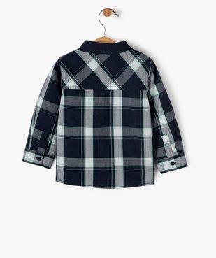 Chemise bébé garçon à manches longues et carreaux à col polo - Lulu Castagnette vue3 - LULUCASTAGNETTE - Nikesneakers