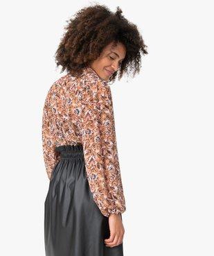 Chemise femme en voile à motif fleuri  vue3 - GEMO(FEMME PAP) - GEMO