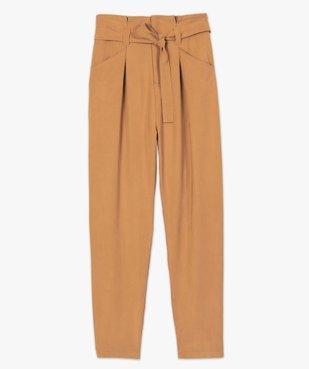 Pantalon femme coupe carotte taille haute vue4 - GEMO(FEMME PAP) - GEMO