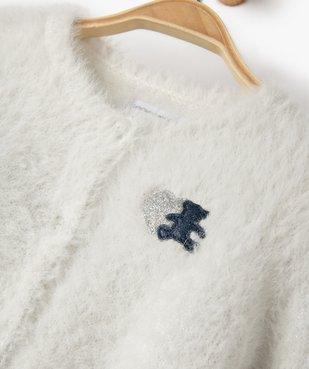 Gilet bébé fille en maille poilue – Lulu Castagnette vue2 - LULUCASTAGNETTE - GEMO