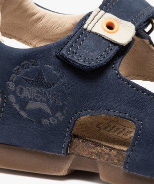 Sandales garçon tout terrain en cuir à scratchs - Bopy vue6 - BOPY - GEMO