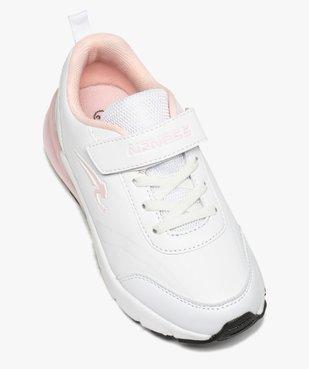 Baskets fille running bicolores à lacets et scratch - Airness vue5 - AIRNESS - GEMO