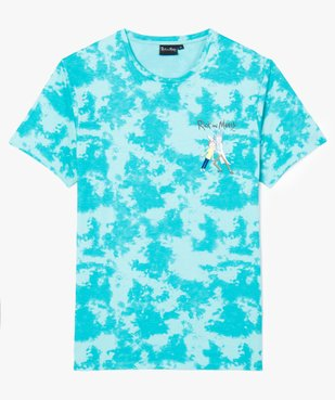 Tee-shirt homme tie-and-dye à manches courtes - Rick and Morty vue1 - RICK ET MORTY - GEMO