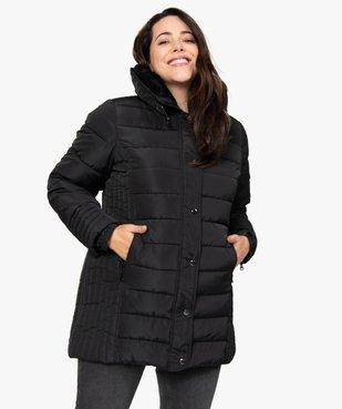 Manteau femme matelassé avec col doublé vue1 - GEMO (G TAILLE) - GEMO