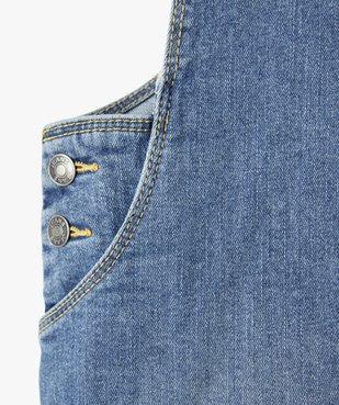 Robe fille en jean forme salopette vue3 - Nikesneakers C4G FILLE - Nikesneakers