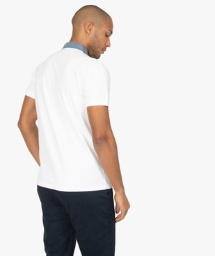 Polo homme avec col chemise contrastant vue3 - Nikesneakers (HOMME) - Nikesneakers