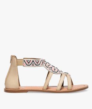 Sandales fille zippées ornées de perles et de strass vue1 - GEMO (ENFANT) - GEMO