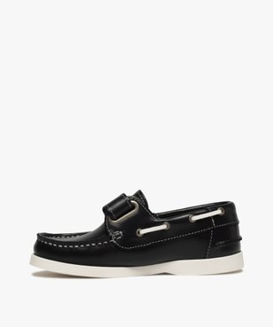 Chaussures bateau garçon dessus cuir à scratch vue3 - GEMO (ENFANT) - GEMO