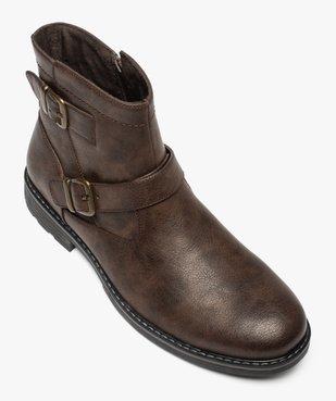 Boots homme à boucles décoratives et doublure chaude vue5 - GEMO (CASUAL) - GEMO