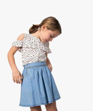 Jupe fille en Lyocell avec liserés pailletés vue1 - GEMO (ENFANT) - GEMO