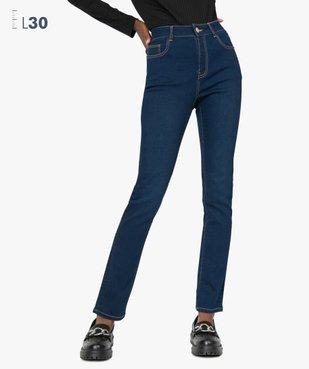 Jean femme slim taille haute brut - Longueur L30 vue1 - GEMO(FEMME PAP) - GEMO