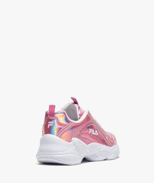 Chaussures de running fille irisées à lacets - Fila Alamo vue4 - FILA - Nikesneakers