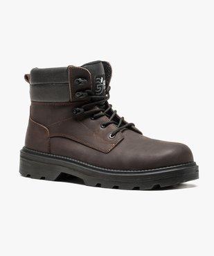 Chaussures hautes de sécurité avec semelle antistatique et résistante aux huiles vue2 - GEMO (SECURITE) - GEMO