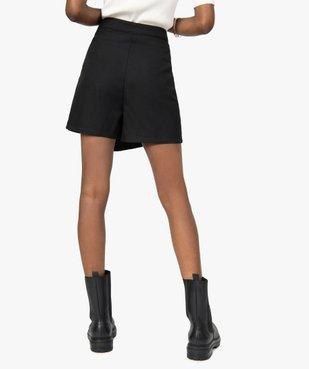 Jupe short femme effet portefeuille avec boutons  vue4 - GEMO(FEMME PAP) - GEMO