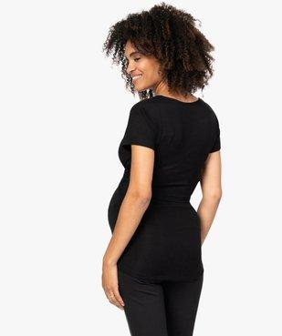 Tee-shirt de grossesse et allaitement cache-cœur vue3 - GEMO (MATER) - GEMO