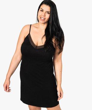 Nuisette femme à bretelles ajustables et col V dentelle vue1 - GEMO(HOMWR FEM) - GEMO