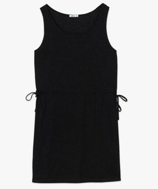 Robe tee-shirt femme avec liens à la taille vue4 - GEMO(FEMME PAP) - GEMO