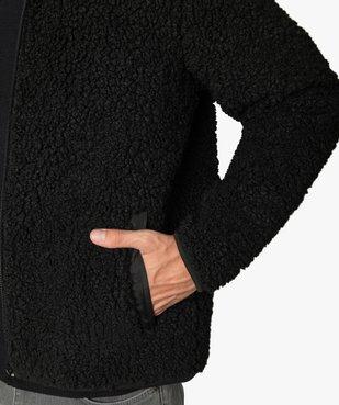 Blouson homme en polaire aspect laine de mouton vue2 - GEMO (HOMME) - GEMO