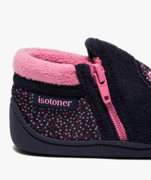 Chaussons bébé fille bottillons zippées - Isotoner vue6 - ISOTONER - GEMO