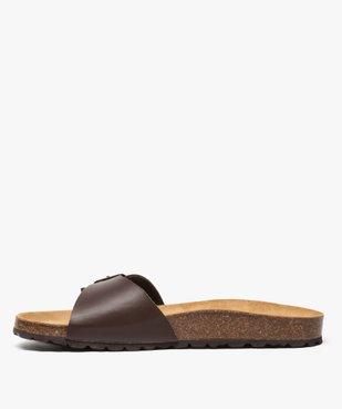 Sandales homme avec large bride à boucle vue3 - GEMO (CASUAL) - GEMO
