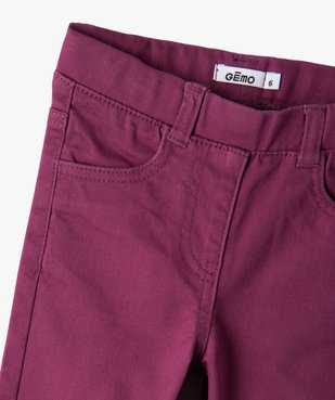 Pantalon fille skinny uni à taille élastiquée vue2 - Nikesneakers (ENFANT) - Nikesneakers