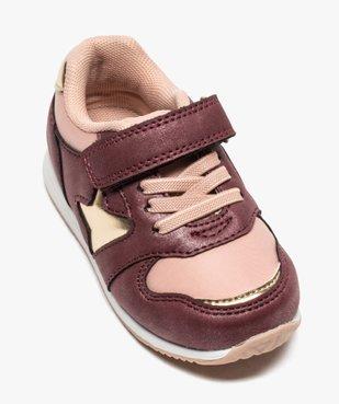 Baskets bébé fille détails métallisés fermeture lacets et scratch vue5 - GEMO(BEBE DEBT) - GEMO