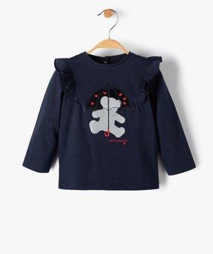 Tee-shirt bébé fille avec motifs pailleté – Lulu Castagnette vue1 - LULUCASTAGNETTE - Nikesneakers