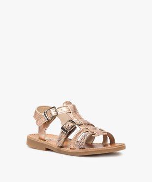 Sandales fille à brides métallisées ajustables - Bopy vue2 - BOPY - GEMO