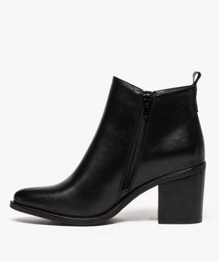 Boots femme à talon avec zip sur le côté vue3 - GEMO(URBAIN) - GEMO