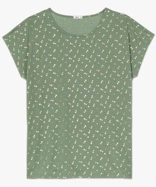 Tee-shirt femme à manches courtes à motifs vue4 - GEMO (G TAILLE) - GEMO