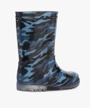 Bottes de pluie garçon motif camouflage vue4 - GEMO (ENFANT) - GEMO