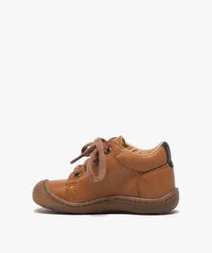 Chaussures premiers pas à lacets bébé garçon - Bopy vue3 - BOPY - GEMO