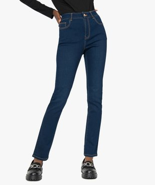 Jean femme slim taille haute brut vue1 - GEMO(FEMME PAP) - GEMO