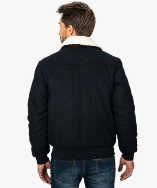Blouson homme  laine avec col   amovible vue3 - GEMO (HOMME) - GEMO
