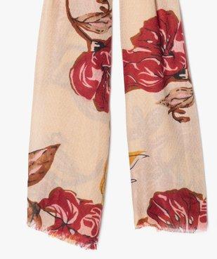 Foulard femme fleuri vue2 - Nikesneakers (ACCESS) - Nikesneakers