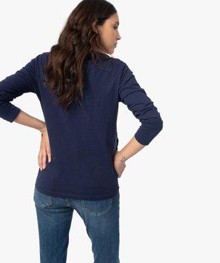 Tee-shirt de grossesse et d'allaitement à manches longues et inscription vue3 - Nikesneakers (MATER) - Nikesneakers