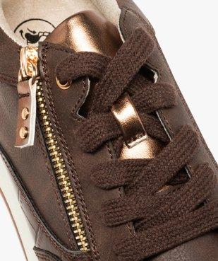 Tennis femme imitation croco avec zip décoratif vue6 - GEMO (SPORTSWR) - GEMO