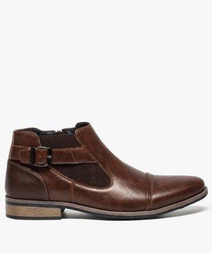 Boots homme fermeture zippée avec bloucle sur le côté vue1 - GEMO (HOMME) - GEMO