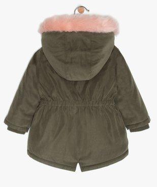 Parka bébé fille à doublure fourrure imitation et détails brillants vue3 - Nikesneakers(BEBE DEBT) - Nikesneakers