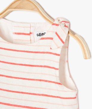 Robe bébé fille sans manches à rayures vue2 - Nikesneakers (ENFANT) - Nikesneakers