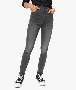Jean femme coupe Slim taille haute coloris délavé vue1 - GEMO(FEMME PAP) - GEMO