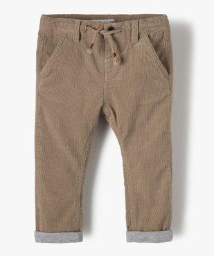 Pantalon bébé garçon en velours doublé jersey vue1 - Nikesneakers(BEBE DEBT) - Nikesneakers