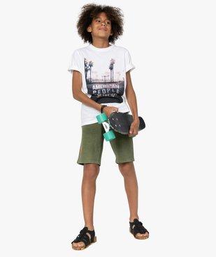 Bermuda garçon en maille extensible – American People vue6 - AMERICAN PEOPLE - GEMO