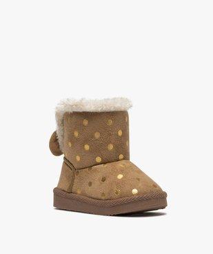 Boots d'intérieur bébé fille en suédine – Lulu Castagnette vue2 - LULU CASTAGNETT - GEMO