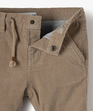 Pantalon bébé garçon en velours doublé jersey vue2 - Nikesneakers(BEBE DEBT) - Nikesneakers