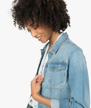 Veste en jean femme coupe large et courte vue3 - GEMO(FEMME PAP) - GEMO