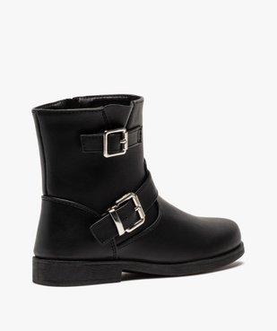 Boots fille unis avec boucles fantaisies fermeture zippée vue4 - Nikesneakers (ENFANT) - Nikesneakers