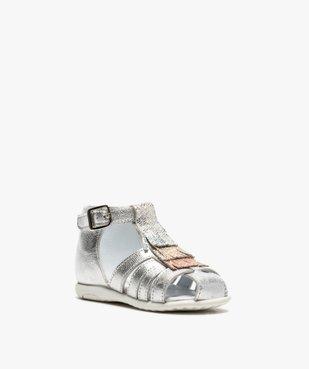 Sandales premiers pas bébé fille avec franges métallisées vue2 - Nikesneakers(BEBE DEBT) - Nikesneakers